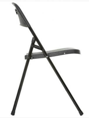 Contrax Black Folding Chair Side View