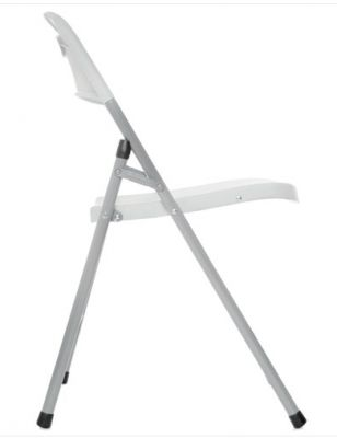 Contrax Plus Folding Chair In Grey Side View