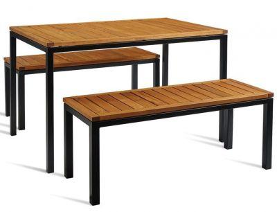 Kendo Outdoor Bench Dining Set