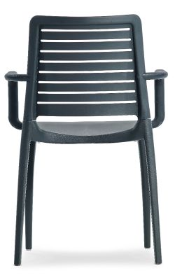 Mika All Weather Armchair In Anthracite Rear View