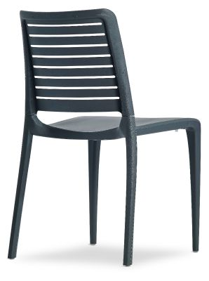 Mika Plastic Side Chair In Anthracite Rear Angle