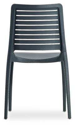 Mika Plastic Side Chair In Anthracite Rear View
