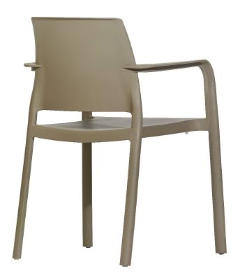 Mazie Taupe Armchair Rear Angle