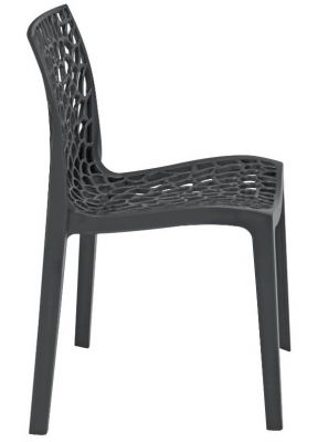 Lattice Chair In Anthracite Side View