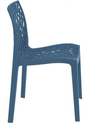 Lattice Chair In Avio Blue Side View