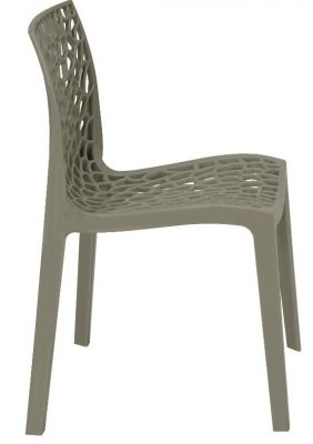 Lattice Chair In Pearl Grey Side View