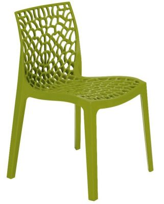 Lattice Chair In Olive Green Front View