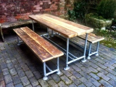 Scaffold Plank Slatted Outdoor Table Cafe Reality