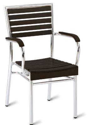 Menorca Outdoor Aluminium Armchair Non Wood Black