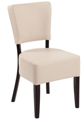 Rosie V4 Chair In Soft Cream Faux Leather