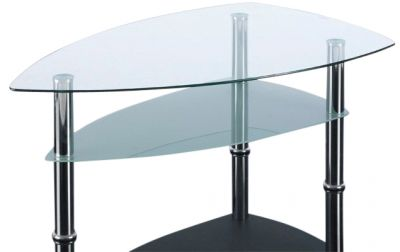 Presto Boat Shaped Glass Coffee Table