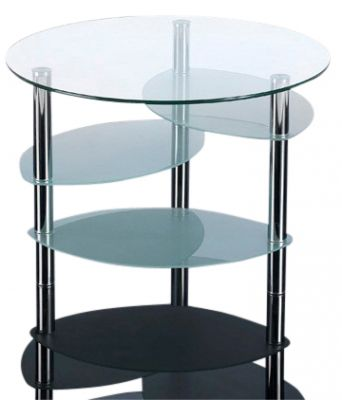 GCT Circular Four Tier Glass Coffee Table