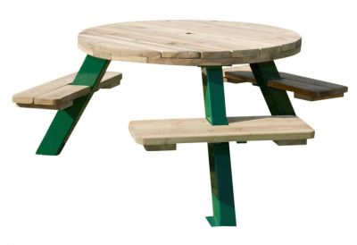 Belfast Six Seater Round Picnic Table
