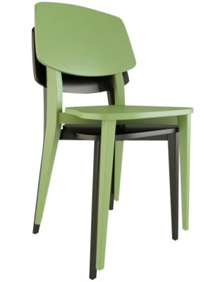 Jupe Contemporary Dining Chair - Coloured Finishes
