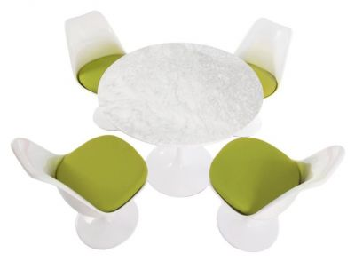 Colour Cushion Designer Bistro Set Marble