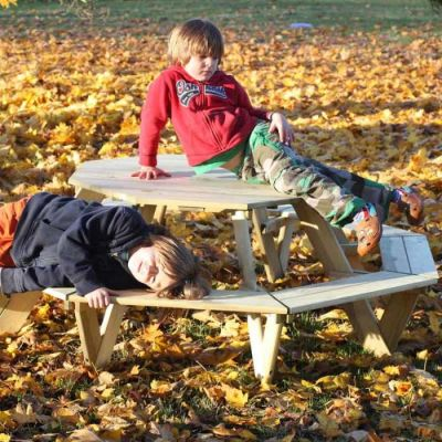 Opal Octagonal Children's Picnic Table 2