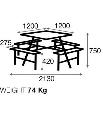 Porte 8-12 Seater Picnic Table 1