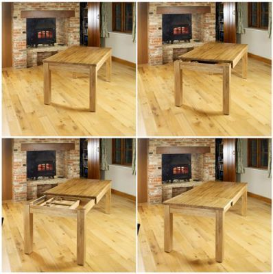 Warminster Extendable Solid Oak Dining Table 2