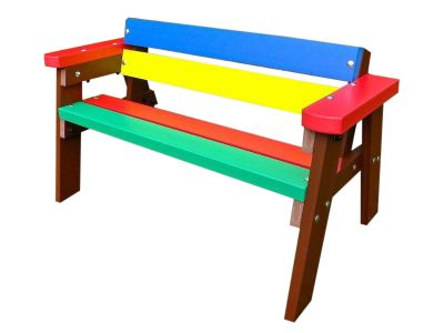 West Childrens Coloured Benches With Arms