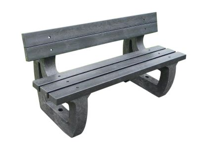 West Chunky Outdoor Benches - Moulded Ends