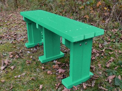 West Coloured Bench Without Back