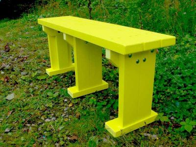 West Coloured Bench Without Back 1