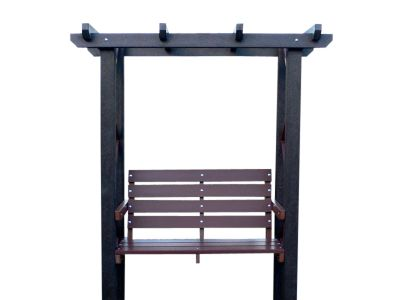 West Recycled Arbor And Bench