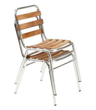 Calina Teak Aluminium Side Chair