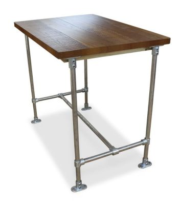 Scaffold Sawn Timber Bar Height Table