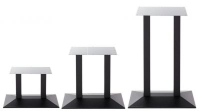 Sykes Twin Next Day Table Bases In Black