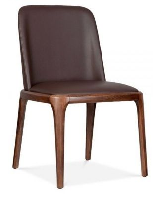 Brown Leatehr Dining Chair Alfonso