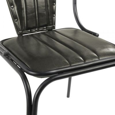 Grey Leather Designer Dining Chairt