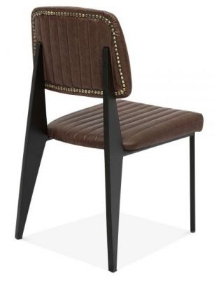 Designer Brown Leather Dining Chair