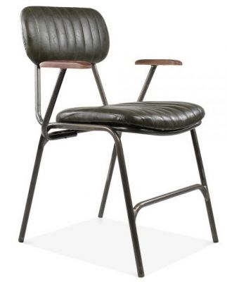 Designer Leather Dining Chair Arms