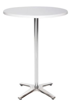 Moby Outdoor Poseuer Height Table With A White Top