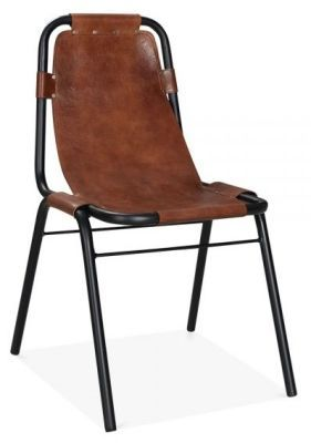 Bruna Leather Dining Chairs Brown