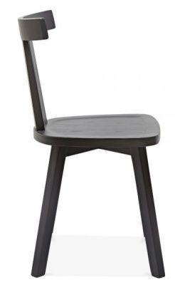 Designer Dark Grey Wooden Dining Chair