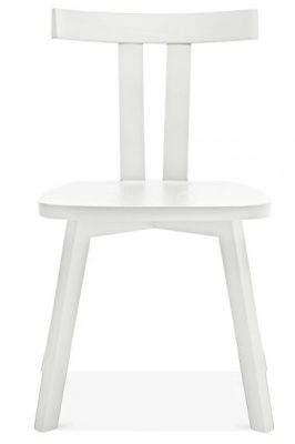 White Modern Simple Wood Dining Chair