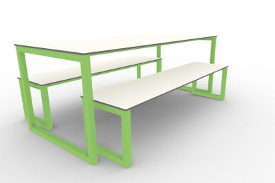 Benny Bench Table Set Outdoors Green