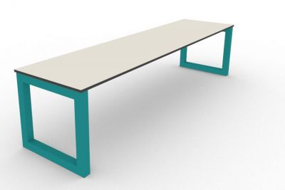 Benny Bench Outdoors Turquoise