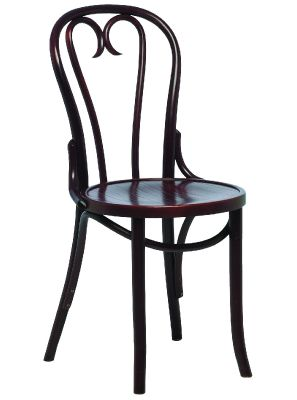 Traditional Veneer Pub Style Walnut Dining Chair