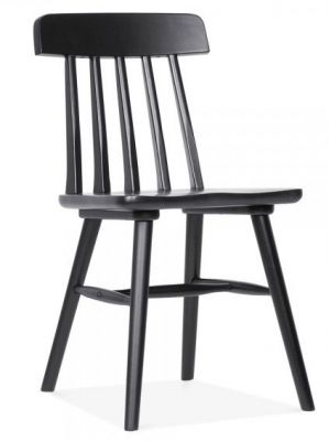 Traditional Design Pub Style Dining Chair Black
