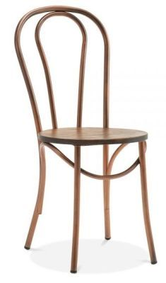 Wondrous Carlo Bentwood Metal Chairs Copper Machost Co Dining Chair Design Ideas Machostcouk
