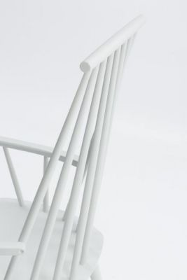 Spindle White Design High Back Dining Chair