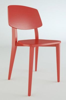 Red Chic Bistro Dining Chair