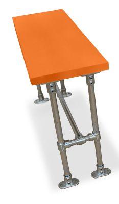 Durban Scaffold Bar Height Bench- Laminate Top Orange
