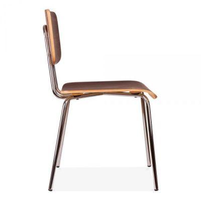 Leola Walnut Designer Cafe Chair