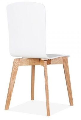 White Montreal Designer Plywood Chair
