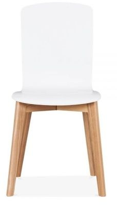 White Montreal Designer Wood Chair