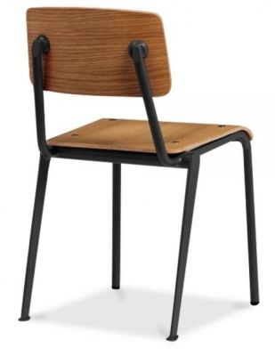 Black Frame Designer Pub Chair Plywood